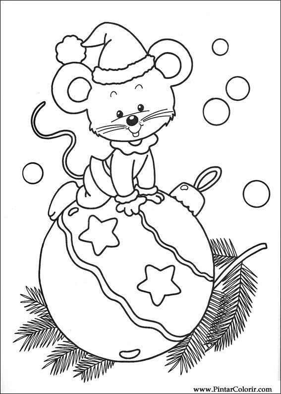 Zeichnungen zu malen und Farbe Weihnachten - Print Design 244