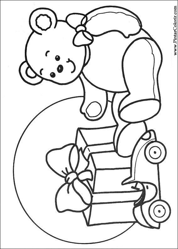 Zeichnungen zu malen und Farbe Weihnachten - Print Design 259