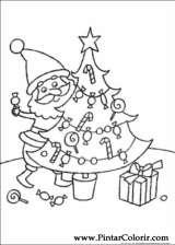 Pintar e Colorir Natal - Desenho 073