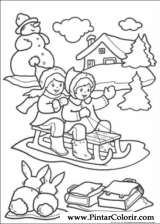Pintar e Colorir Natal - Desenho 208