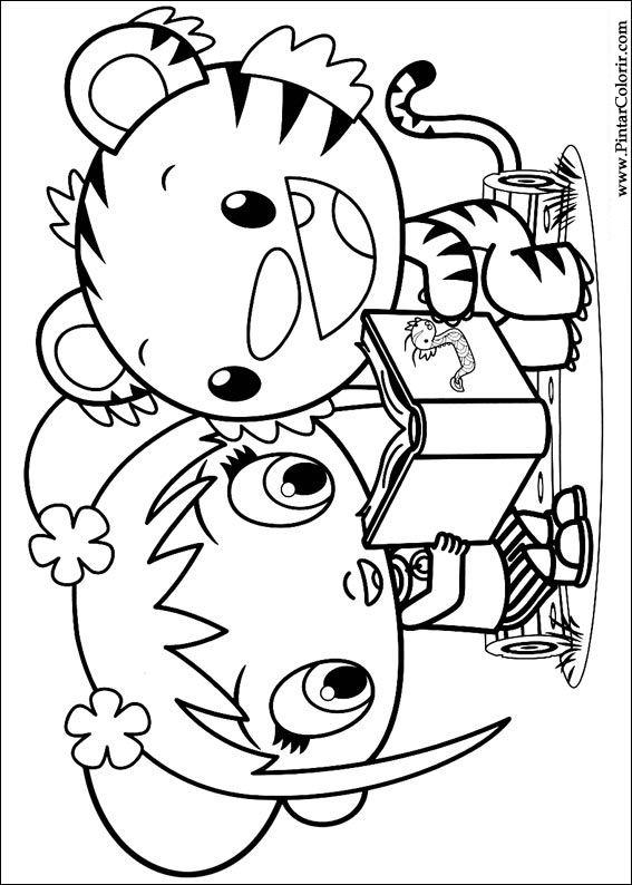 Drawings to paint colour ni hao kai lan print design 003 for Kai lan coloring pages