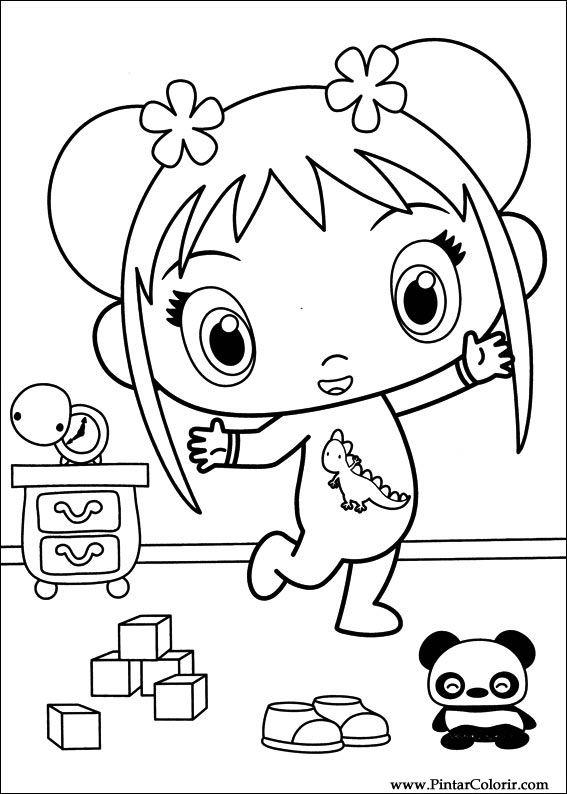 Drawings to paint colour ni hao kai lan print design 049 for Kai lan coloring pages