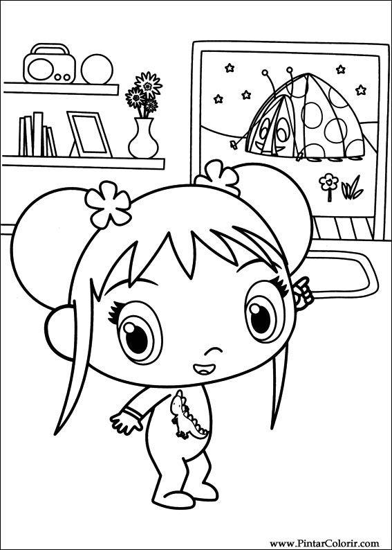 Drawings to paint colour ni hao kai lan print design 050 for Kai lan coloring pages