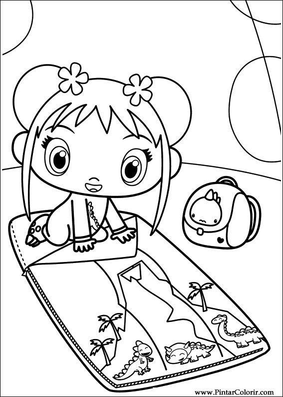 Ni how kai lan coloring pages