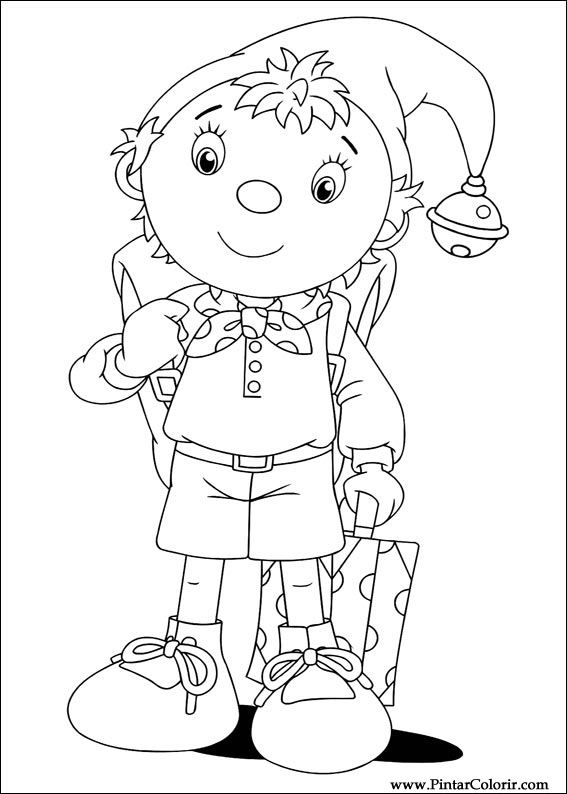 Drawings To Paint Colour Noddy Print Design 013