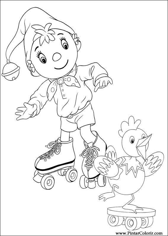 Desenhos Para Pintar E Colorir Noddy