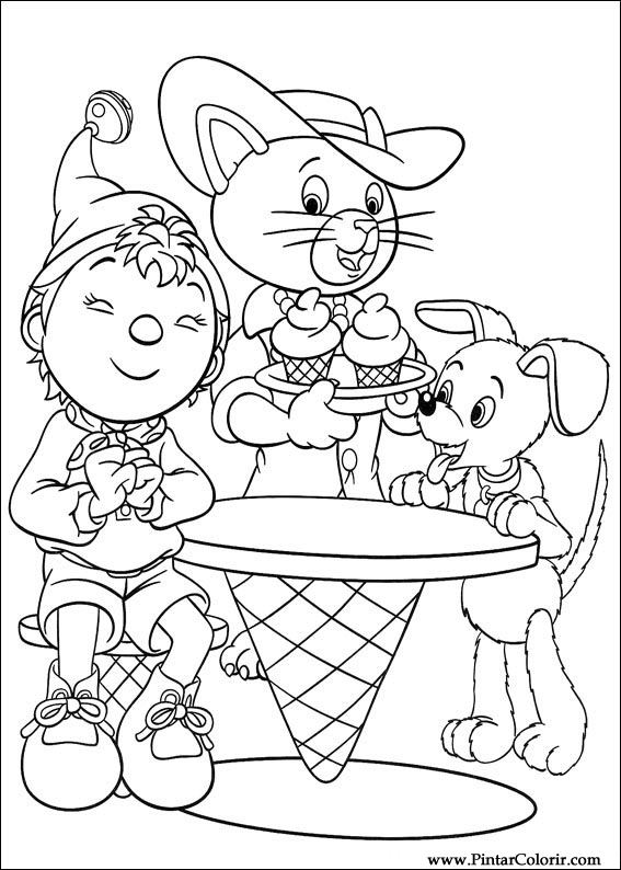 Drawings To Paint Colour Noddy Print Design 129