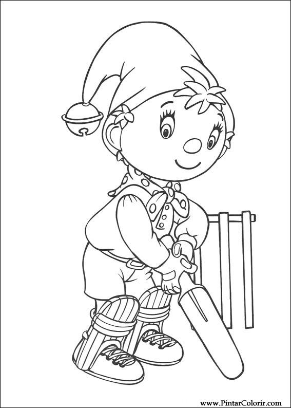 Drawings To Paint amp Colour Noddy Print Design 156