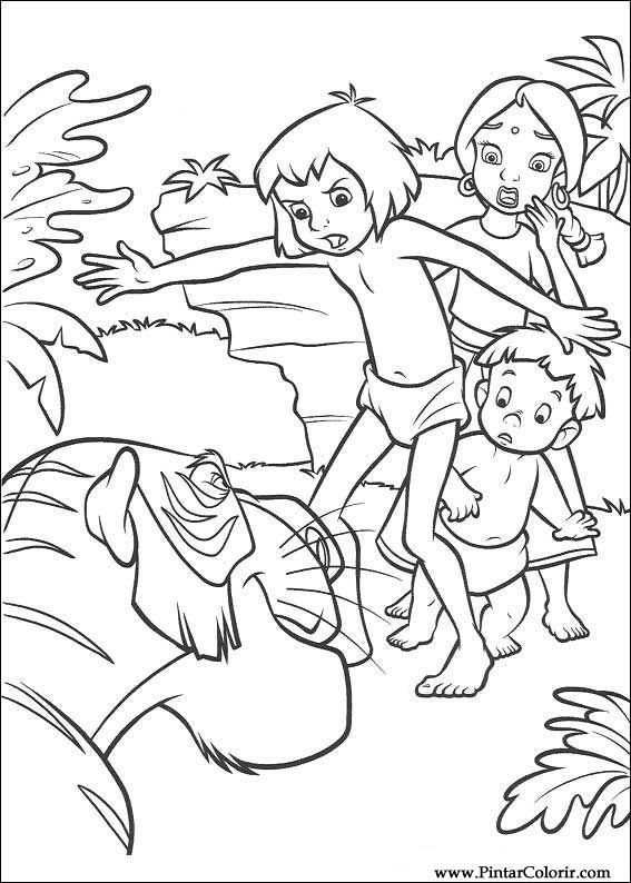 jungle book 2 coloring pages - dessins de peindre couleur le livre de la jungle 2