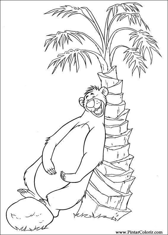 Drawings To Paint & Colour of The Jungle Book