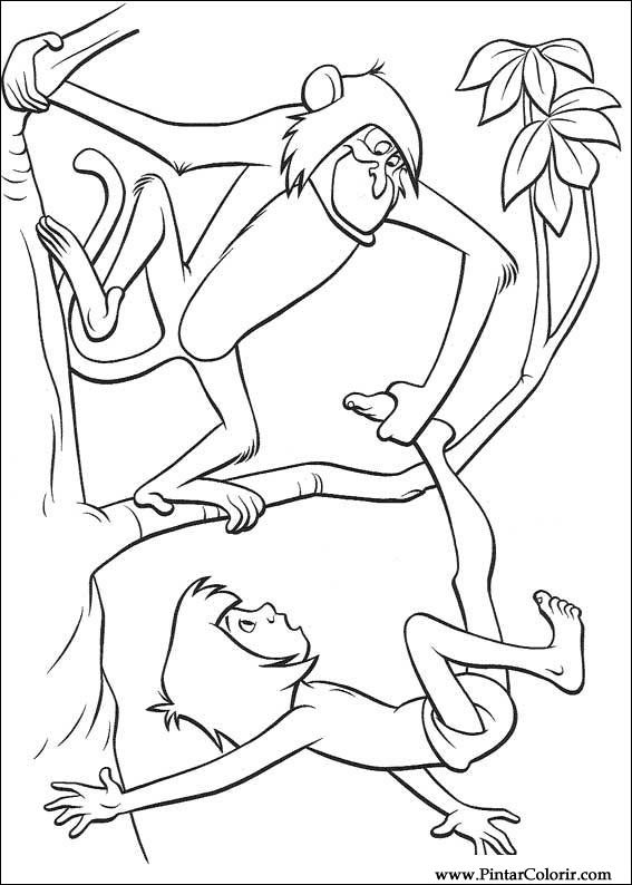 Dibujos para pintar y Color El libro de la selva - Diseño de ...