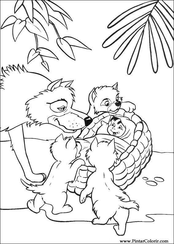 Disegni a dipingere e colori il libro della giungla