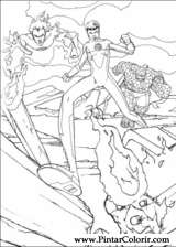 Pintar e Colorir O Quarteto Fantastico - Desenho 019