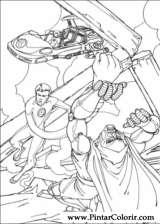 Pintar e Colorir O Quarteto Fantastico - Desenho 021