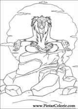 Pintar e Colorir O Rei Leao - Desenho 001