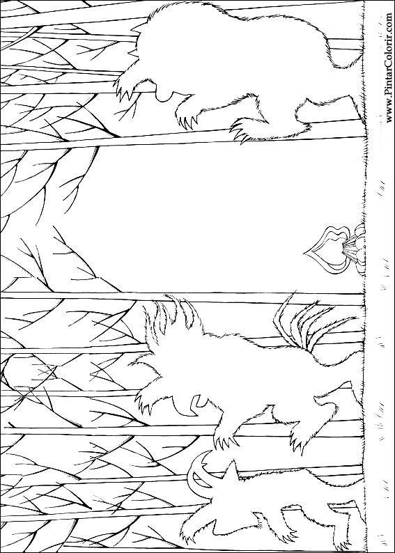 Pintar e Colorir Onde Vivem Os Monstros - Desenho 005