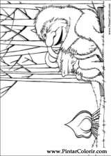 Pintar e Colorir Onde Vivem Os Monstros - Desenho 018