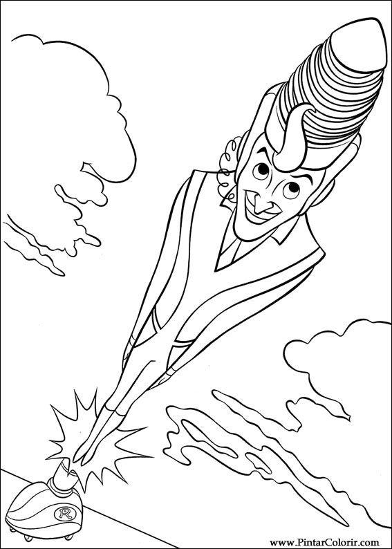 Pintar e Colorir Os Robinsons - Desenho 004