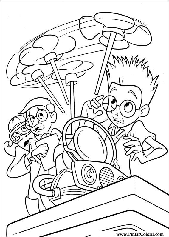 Pintar e Colorir Os Robinsons - Desenho 038