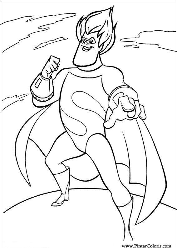 Pintar E Colorir Os Super Herois Desenho 046