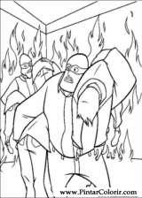 Pintar e Colorir Os Super Herois - Desenho 008