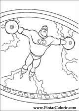 Pintar e Colorir Os Super Herois - Desenho 015