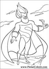 Pintar e Colorir Os Super Herois - Desenho 016