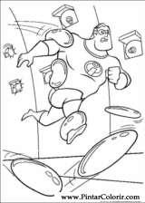 Pintar e Colorir Os Super Herois - Desenho 019