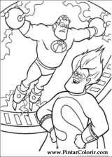 Pintar e Colorir Os Super Herois - Desenho 024