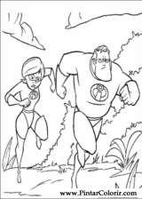 Pintar e Colorir Os Super Herois - Desenho 027