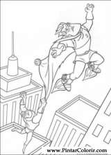 Pintar e Colorir Os Super Herois - Desenho 033