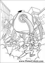 Pintar e Colorir Os Super Herois - Desenho 042