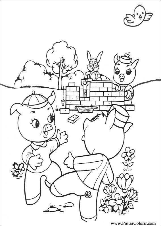 Three Little Pigs Drawing The Three Little Pigs