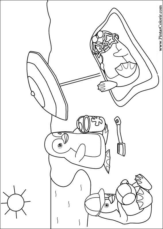 Pintar e colorir ozie boo - desenho 005