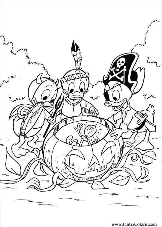 Tekeningen Te Schilderen Amp Kleur Donald Duck Print