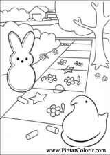 Pintar e Colorir Peeps - Desenho 004