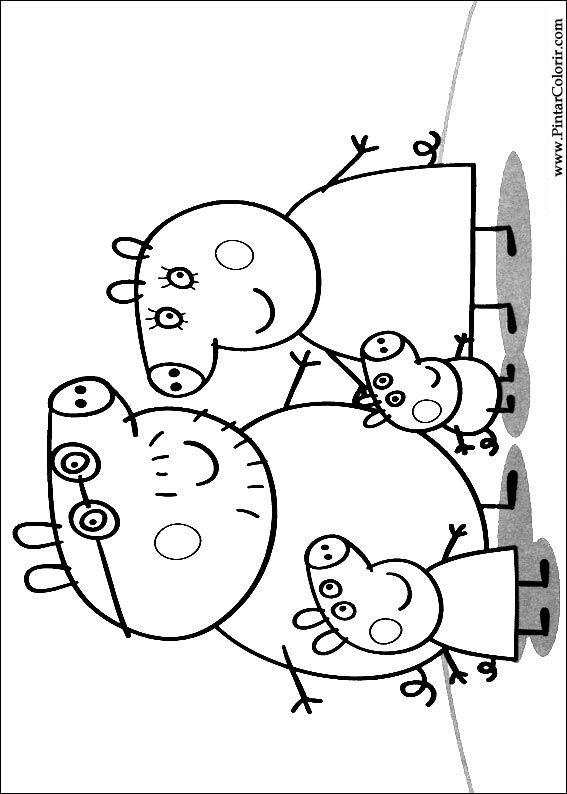 Pintar e Colorir Peppa Pig - Desenho 001