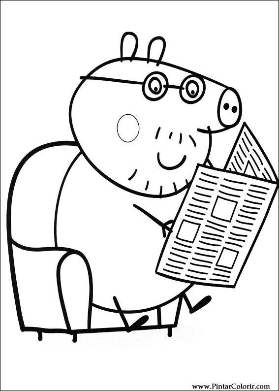 Pintar e Colorir Peppa Pig - Desenho 004