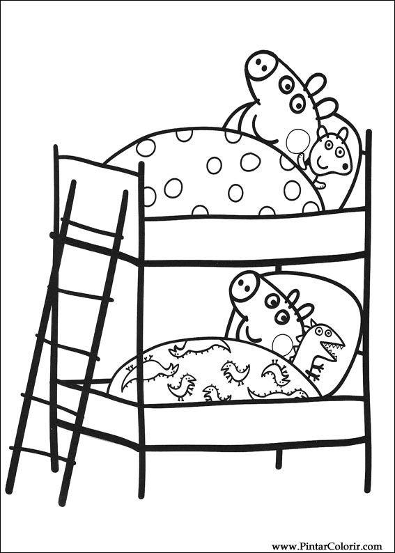 peppa pig para colorear. Paint  Colour Peppa Pig Drawing 009 Drawings To Print Design