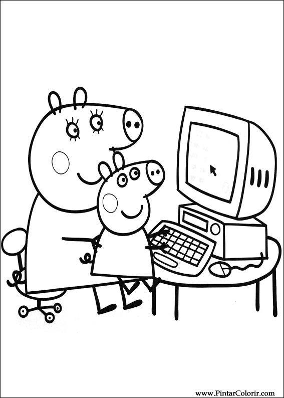 Peppa Pig desenhos para imprimir colorir e pintar ?