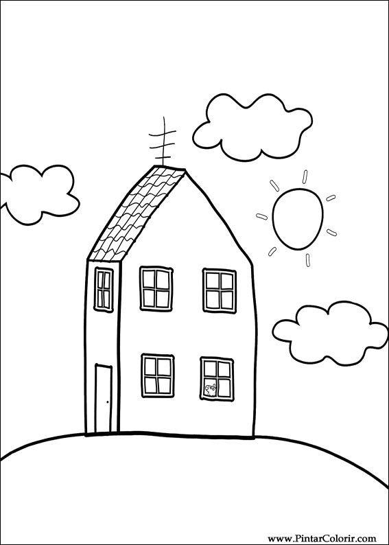 Pintar e Colorir Peppa Pig - Desenho 012