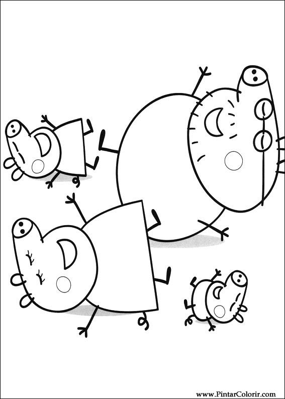 Drawings To Paint Amp Colour Peppa Pig