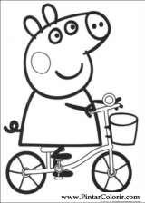 Pintar e Colorir Peppa Pig - Desenho 002