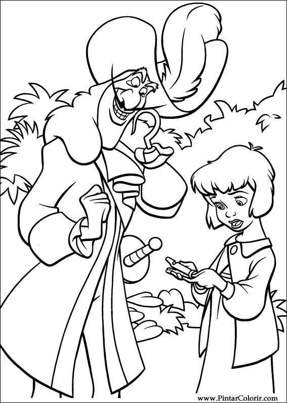 Tekeningen Te Schilderen amp Kleur Peter Pan 2 Print Design 010