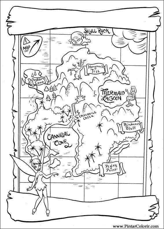 peter pan mermaid coloring pages - photo#38