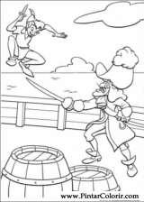 Pintar e Colorir Peter Pan - Desenho 026