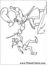 Pintar e Colorir Peter Pan - Desenho 032