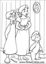 Pintar e Colorir Peter Pan - Desenho 035
