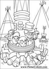 Pintar e Colorir Peter Pan - Desenho 044