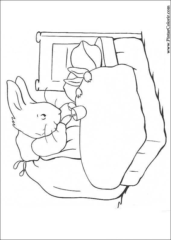 Disegni per dipingere colour peter rabbit stampare